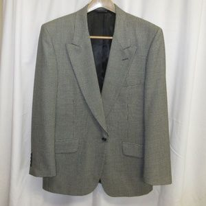 Vintage Burberry Houndstooth Wool Suit Size L